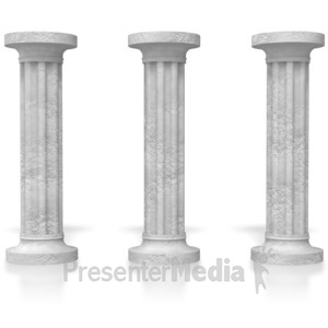 ID# 5398 - Three Pillars  - Presentation Clipart