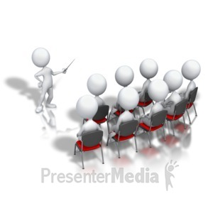 ID# 5426 - Stick Figure Presenter Display - Presentation Clipart