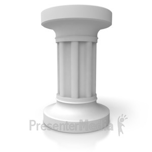 ID# 5428 - Single Pillar - Presentation Clipart