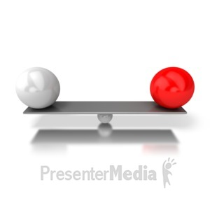 ID# 5465 - Balanced Bar - Presentation Clipart