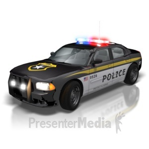 ID# 5494 - Police Car Lights - Presentation Clipart