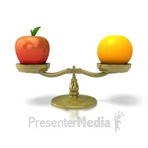 ID# 5502 - Apples To Oranges - Presentation Clipart