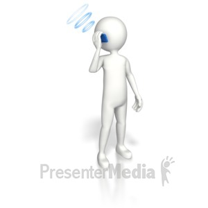 ID# 5523 - Cell Phone Communication - Presentation Clipart