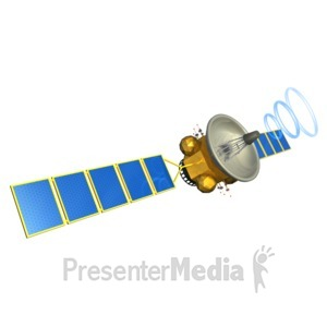 ID# 5524 - Satellite Communication - Presentation Clipart