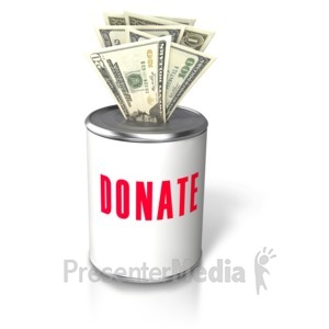 ID# 5537 - Donation Money Insert Can - Presentation Clipart