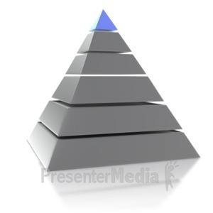 ID# 5549 - Six Point Pyramid - Presentation Clipart