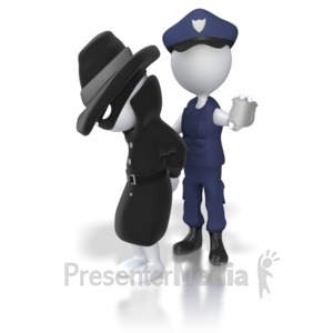 ID# 5582 - Thief Captured by Authorities - Presentation Clipart