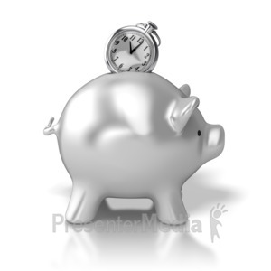 ID# 5599 - Time Bank - Presentation Clipart