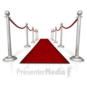 ID# 5608 - Red Carpet and Ropes - Presentation Clipart