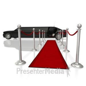 ID# 5610 - Limo Red Runway Carpet  - Presentation Clipart