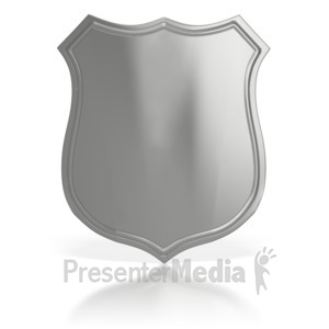ID# 5620 - Blank Authority Badge - Presentation Clipart