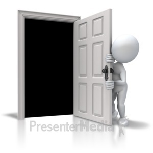 ID# 5622 - Afraid Of The Closet - Presentation Clipart