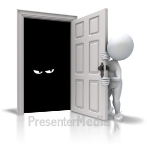 ID# 5623 - The Closet Monster - Presentation Clipart