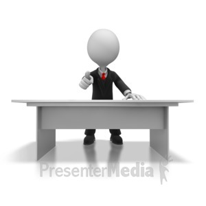 ID# 5636 - Boss Pointing - Presentation Clipart