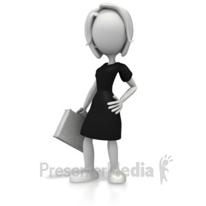 ID# 5642 - Business Woman Pose - Presentation Clipart