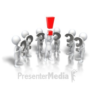 ID# 5653 - Who Has The Answer - Presentation Clipart