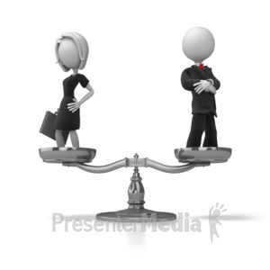 ID# 5663 - Business Equality - Presentation Clipart