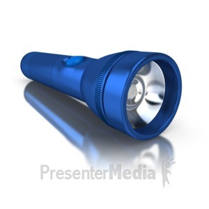 ID# 5666 - Flashlight on the Ground - Presentation Clipart