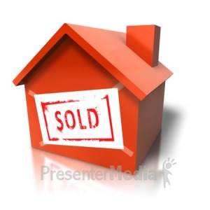 ID# 5719 - House With Sold Sign - Presentation Clipart