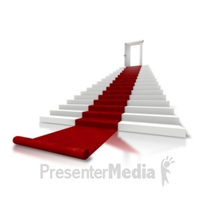 ID# 5726 - Roll Out The Red Carpet Stairs - Presentation Clipart