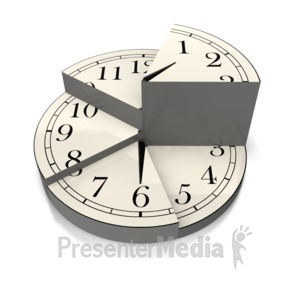 ID# 5729 - Divided Time Pie Chart - Presentation Clipart