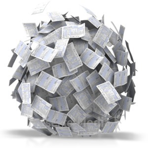 ID# 5790 - Ball Of Papers - Presentation Clipart