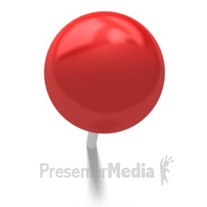 ID# 5792 - Simple Push Pin - Presentation Clipart