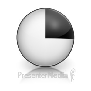 ID# 5793 - Harvey Ball Numberic One Representation - Presentation Clipart