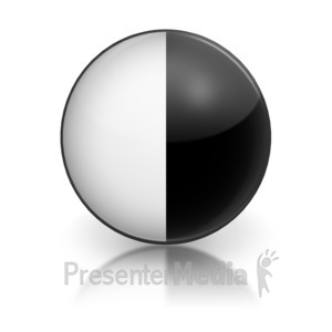 ID# 5794 - Harvey Ball Numberic Two Representation - Presentation Clipart
