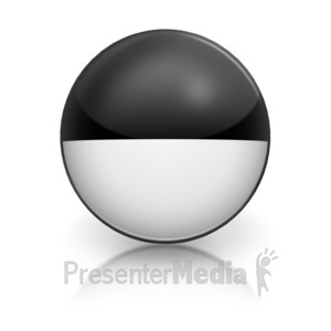 ID# 5801 - Harvey Ball Number Eight Representation - Presentation Clipart