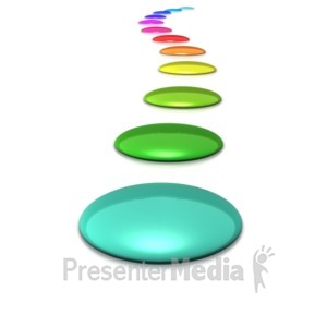 ID# 5823 - A Spectrum Line of Colored Circles - Presentation Clipart