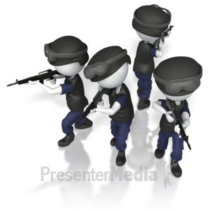 ID# 5875 - Police Swat T Formation - Presentation Clipart
