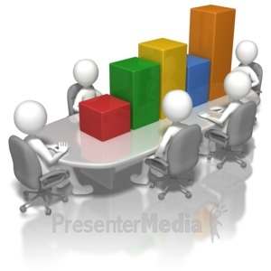 ID# 5943 - Bar Graph Conference Table - Presentation Clipart