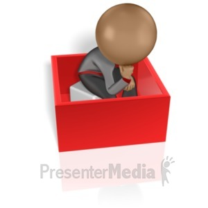ID# 5967 - Thinking Inside The Box - Presentation Clipart