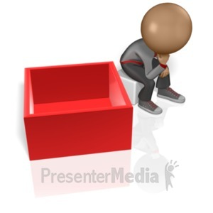 ID# 5968 - Thinking Outside The Box - Presentation Clipart