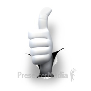 ID# 5983 - Hole Hand Thumbs Up - Presentation Clipart
