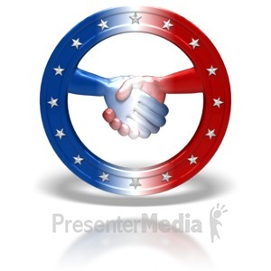ID# 5986 - Bipartisan Political Symbol - Presentation Clipart