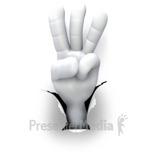 ID# 5989 - Hole Hand Number Three - Presentation Clipart