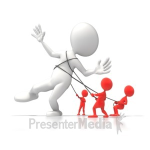 ID# 6007 - Bringing The Giant Down - Presentation Clipart