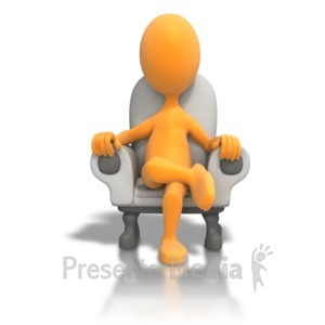 ID# 6028 - Sitting In Chair Relaxing - Presentation Clipart