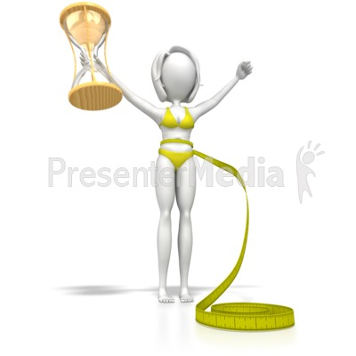 Lose Weight In No Time Woman PowerPoint Clip Art