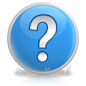 ID# 6177 - Question Mark Button Symbol - Presentation Clipart