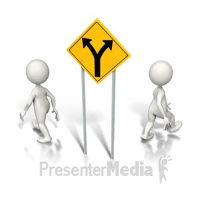 ID# 6218 - Split Up Direction - Presentation Clipart