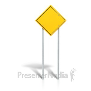 ID# 6229 - Blank Road Sign - Presentation Clipart