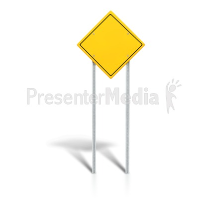 Blank Road Sign PowerPoint Clip Art