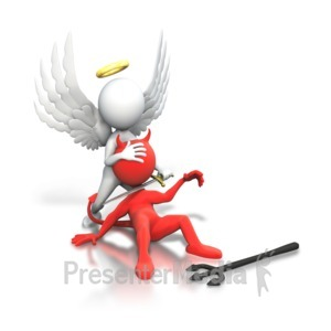ID# 6237 - Good Winning Vs Evil - Presentation Clipart
