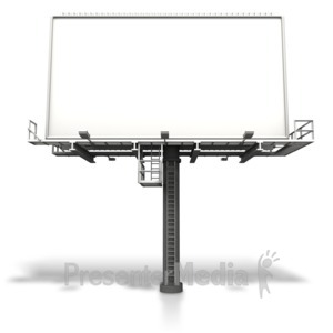 ID# 6268 - Large Billboard Display - Presentation Clipart