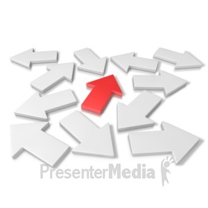 ID# 6274 - Arrow Direction - Presentation Clipart