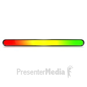 ID# 6281 - Oval Risk Warning Indicator Bar - Presentation Clipart