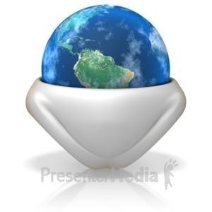 ID# 6284 - Earth In a Diaper - Presentation Clipart